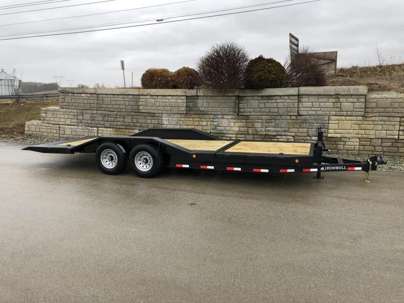 """2019 Ironbull 102x16+4 Gravity Tilt Equipment Trailer 14000# * 102"""" DECK * DRIVE OVER FENDERS * TORSION * STOP VALVE"""