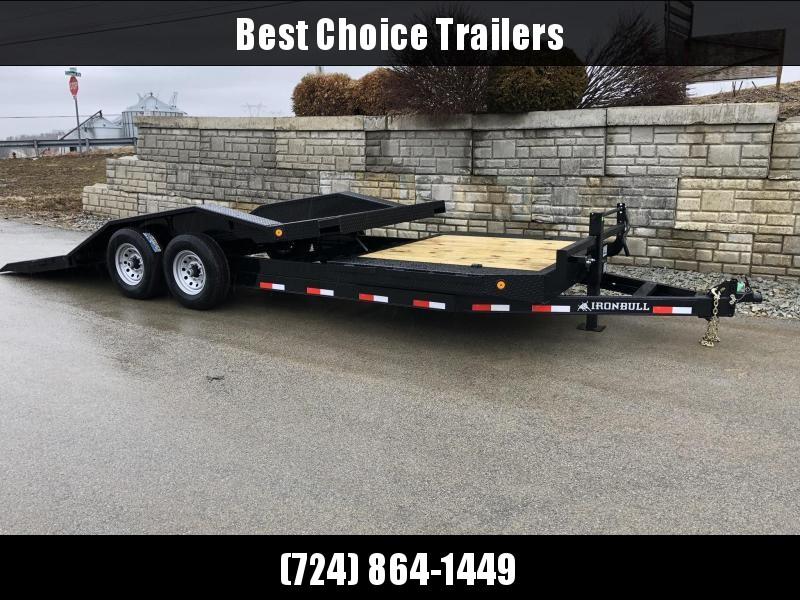 """2019 Ironbull 102x16+4 Gravity Tilt Equipment Trailer 14000# * 102"""" DECK * DRIVE OVER FENDERS * TORSION * STOP VALVE in Ashburn, VA"""