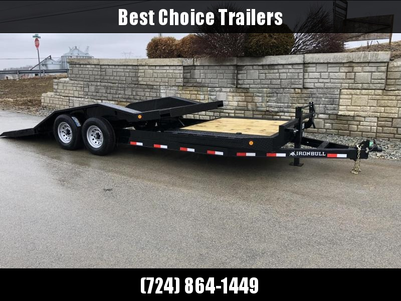 "2019 Ironbull 102x16+4 Gravity Tilt Equipment Trailer 14000# * 102"" DECK * DRIVE OVER FENDERS * TORSION * STOP VALVE"