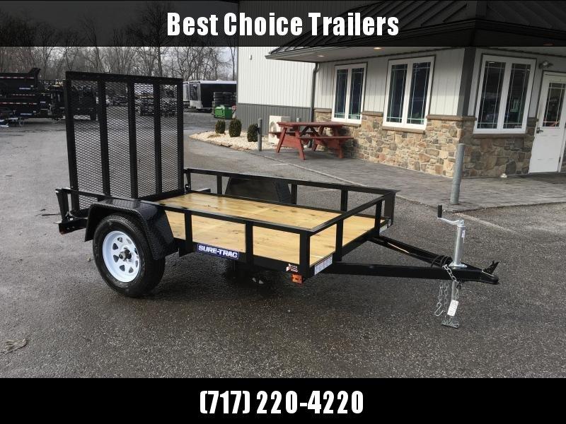2018 Sure-Trac 5x8' Angle Iron Utility Trailer 2990# GVW * CLEARANCE * FREE ALUMINUM WHEELS