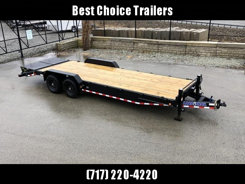 "2020 Load Trail 102x24' Equipment Trailer 14000# GVW * 102"" DECK * DRIVE OVER FENDERS * 8"" TONGUE & FRAME * DUAL JACKS * FULL WIDTH MAX RAMPS * RUBRAIL * DEXTER'S * 2-3-2 * POWDER PRIMER"