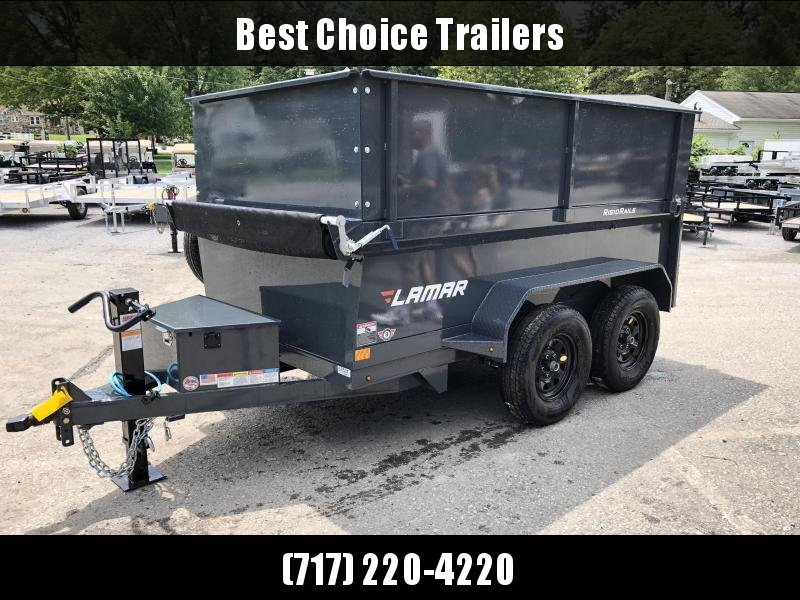 2018 Lamar 5x10' DS60 Dump Trailer 7000# GVW - DELUXE * 12K JACK * RAMPS * TARP * SPARE & MOUNT * 2' HIGH SIDES * 2' SOLID EXTENSIONS * VOLT METER in Ashburn, VA