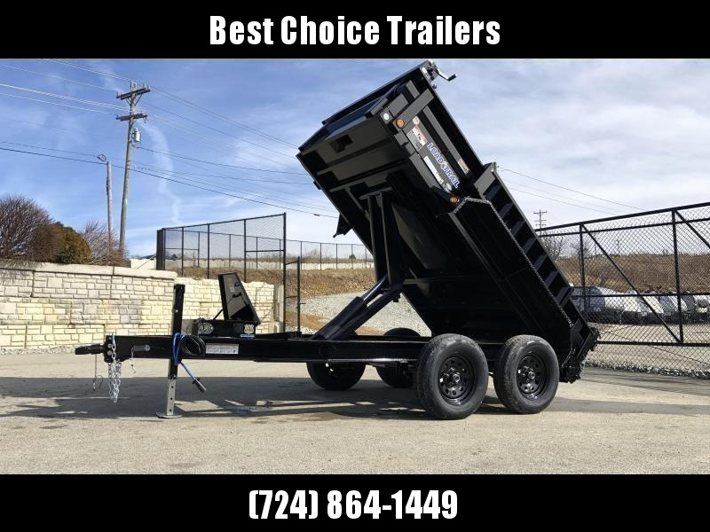 "2019 Load Trail 5X10' Dump Trailer 7000# GVW * DT6010032 * 3-WAY GATE * I-BEAM FRAME * TARP KIT * SCISSOR HOIST * 4"" TUBE BED FRAME * 110V CHARGER * DEXTER'S * 2-3-2 * POWDER PRIMER"