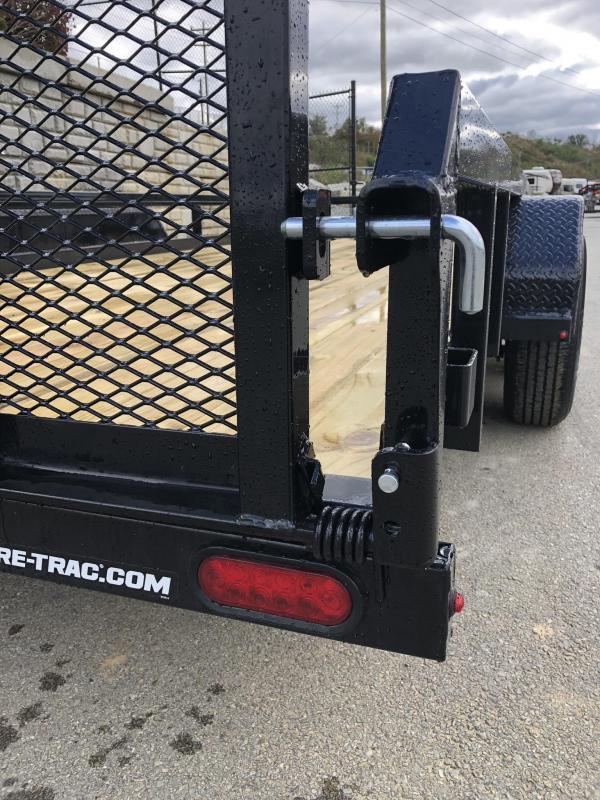 "2019 Sure-Trac 7x18 Tube Top Utility Landscape Trailer 9900# GVW * PROFESSIONAL LANDSCAPE SERIES * HD REINFORCED GATE * 5"" TONGUE & FRAME * 7K JACK * 2X3"" TUBE TOP RAIL"