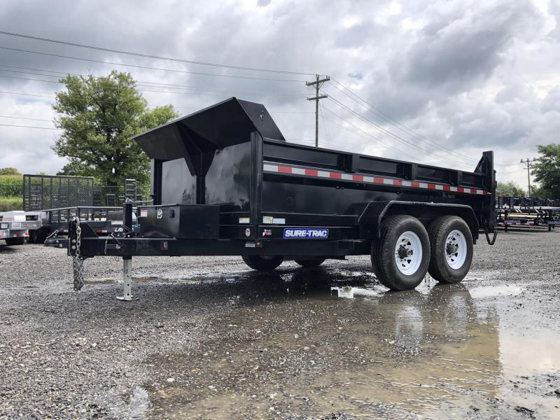 USED 2018 Sure Trac 7x12' 12000# Hydraulic Dump Trailer