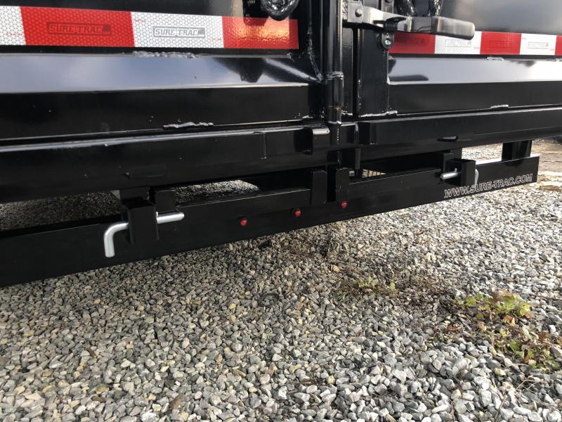 2018 Sure-Trac 7x16' Gooseneck HD LowPro Dump Trailer 14000# GVW