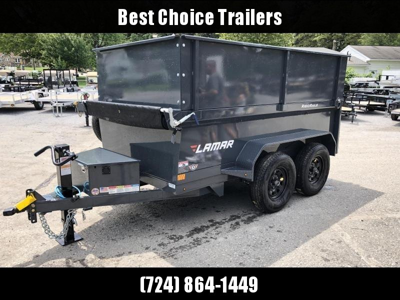 2019 Lamar 5x10' DS60 Dump Trailer 7000# GVW - DELUXE * 12K JACK * RAMPS * TARP * SPARE & MOUNT * 2' HIGH SIDES * 2' SOLID EXTENSIONS in Ashburn, VA