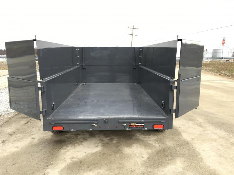 2019 Lamar 5x10' DS60 Dump Trailer 7000# GVW - DELUXE * 12K JACK * RAMPS * TARP * SPARE & MOUNT * 2' HIGH SIDES * 2' SOLID EXTENSIONS