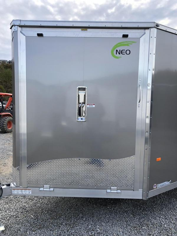 2019 Neo 7x28' Aluminum Enclosed Snowmobile All-Sport Trailer * 4-PLACE SLED/2-PLACE UTV * PEWTER * 7' HEIGHT UPGRADE