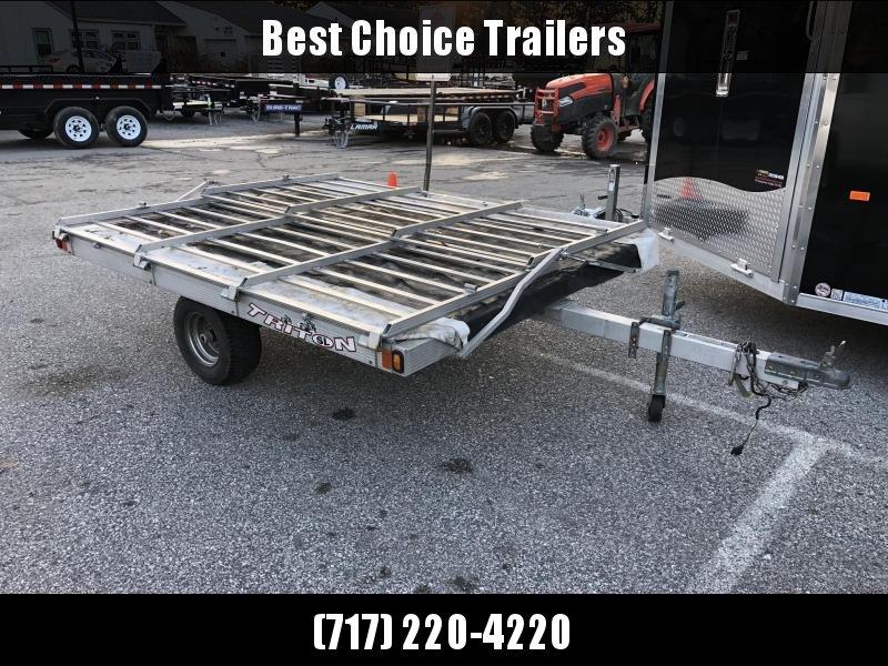 USED Triton 2-place ATV Hauler Aluminum Utility Trailer 1880# GVW