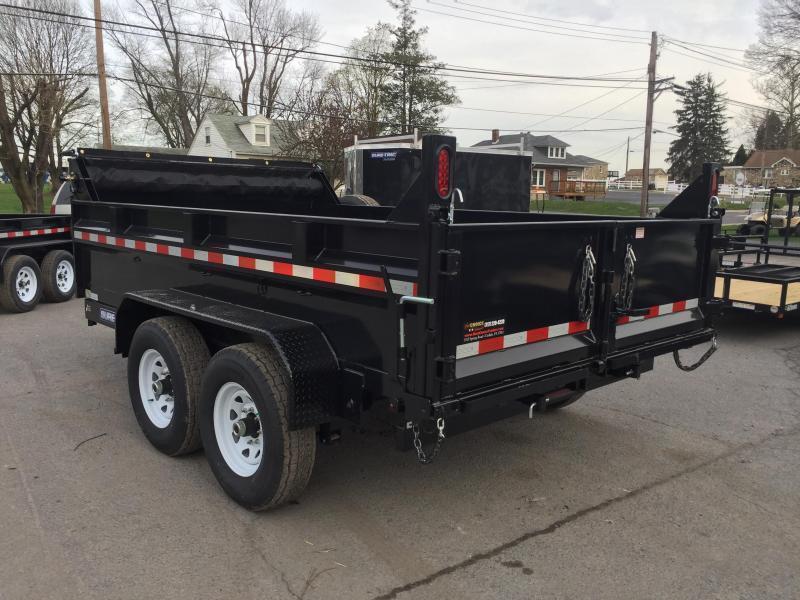 2019 Sure-Trac 7x12' LowPro Dump Trailer 12000# GVW - TELESCOPIC HOIST