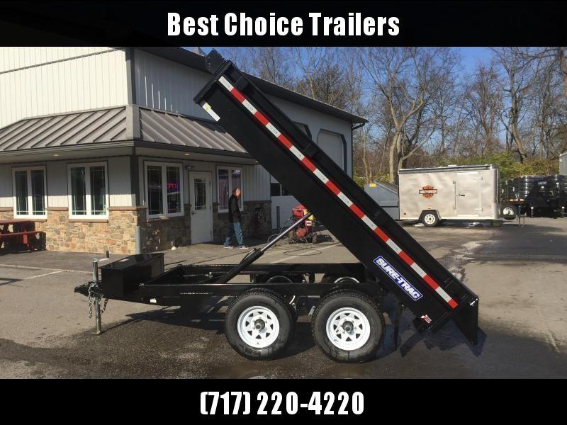 2018 Sure-Trac 6x10' 9900# GVW SD Deckover Dump Trailer