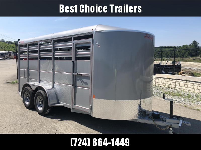2018 Delta 500ES 16' Livestock Trailer 7000# GVW - SILVER