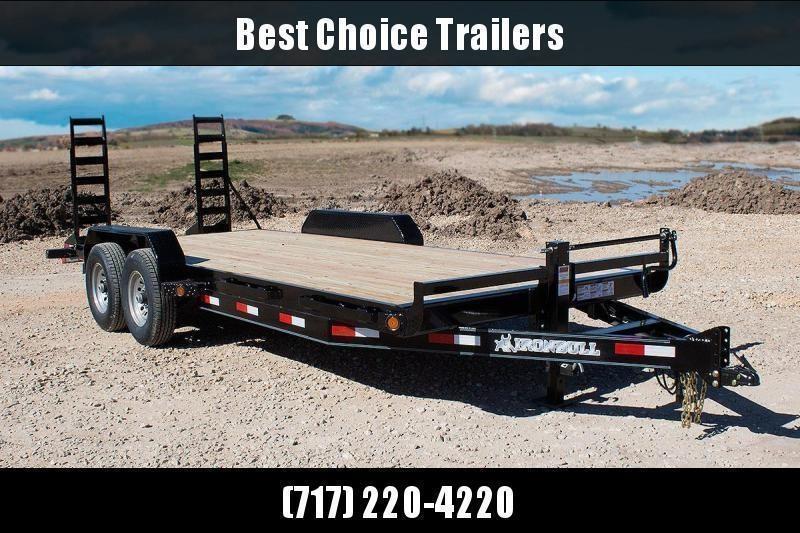 2020 Ironbull 7x22' Lowboy Equipment Trailer 14000# GVW * Stand Up Ramps