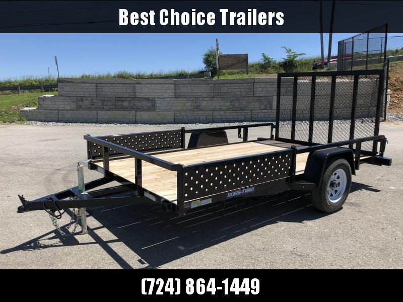 USED 2018 Sure-Trac 7x12' Tube Top ATV Side Ramps Utility Trailer 2990# GVW