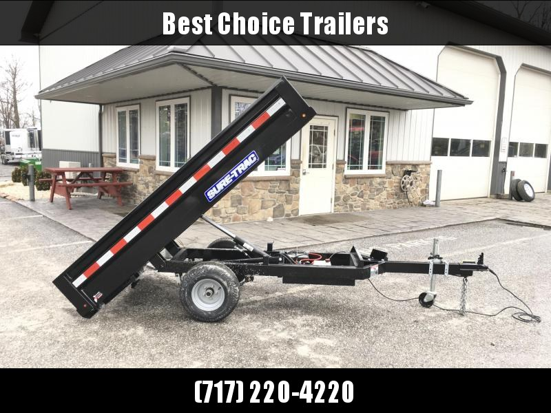 2018 Sure-Trac 4.5x8 Utility Dump Trailer 2990# GVW w Ramps