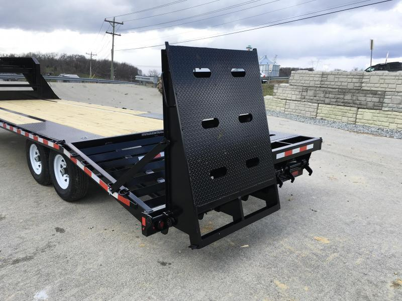 2019 Sure-Trac 102x20+5 15000# Gooseneck Beavertail Deckover Trailer PIERCED FRAME * FULL WIDTH RAMPS