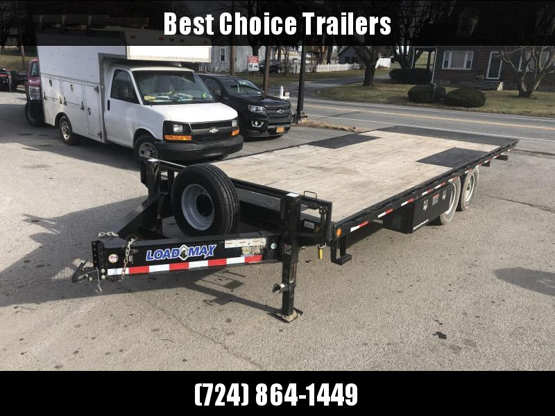 "USED 2015 Load Trail 102x22' Power Tilt Deckover 14000# GVW * SCISSOR HOIST * I-BEAM BEDFRAME * 10"" I-BEAM MAINFRAME * DUAL JACKS * SPARE TIRE * CHAIN TRAY * SIDE TOOLBOX * WINCH PLATE"