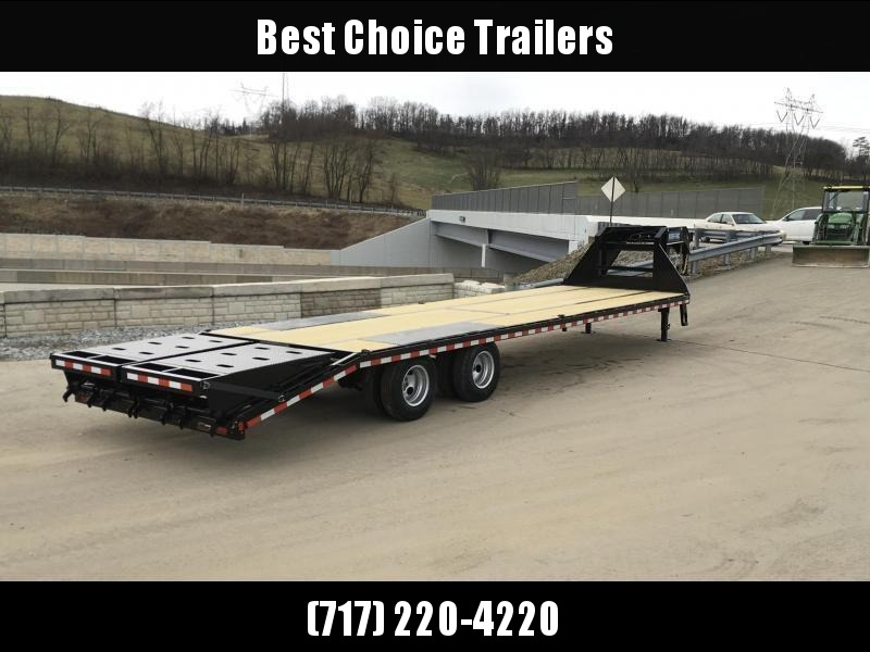 2018 Sure-Trac 102x35+5 22K Gooseneck Beavertail Deckover Trailer PIERCED FRAME * FULL WIDTH RAMPS * HUTCH SUSPENSION