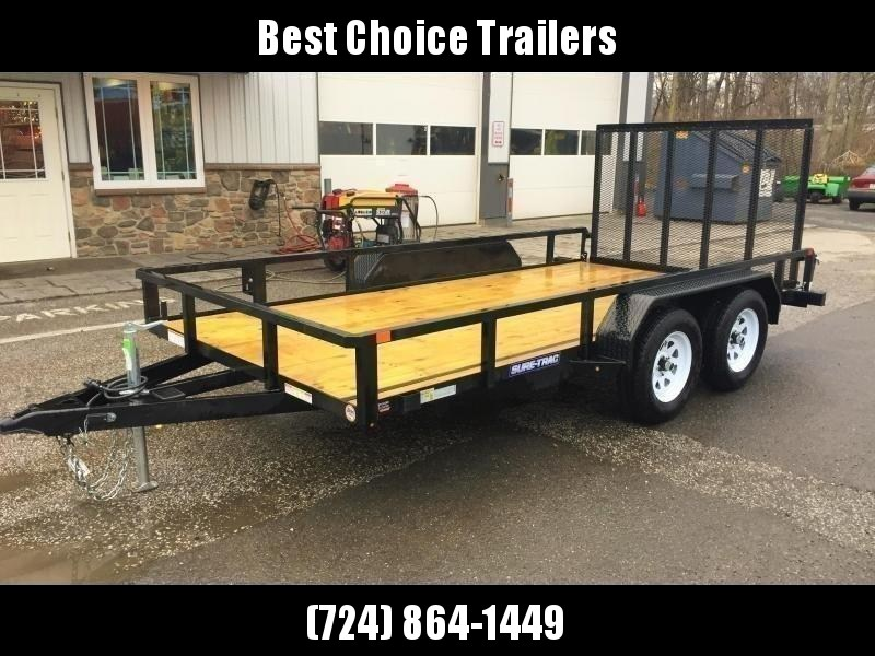 2018 Sure Trac 7x16' Tube Top Utility Landscape Trailer 7000# GVW  * CURB SIDE GATE