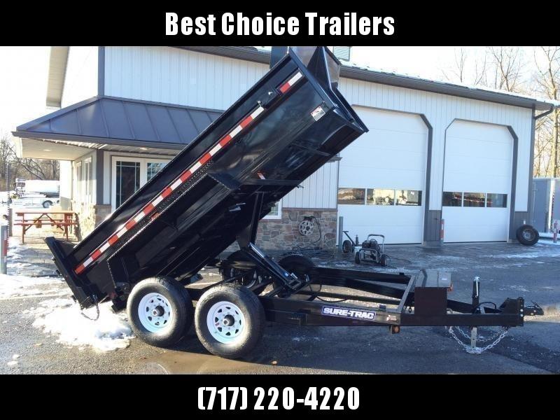 2018 Sure-Trac 7x12' HD LowPro Dump Trailer 12000# GVW - SCISSOR HOIST