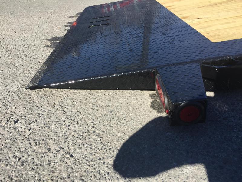 2018 Ironbull 7x16+4 Gravity Tilt Equipment Trailer 14000# TORSION * STOP VALVE * CLEARANCE