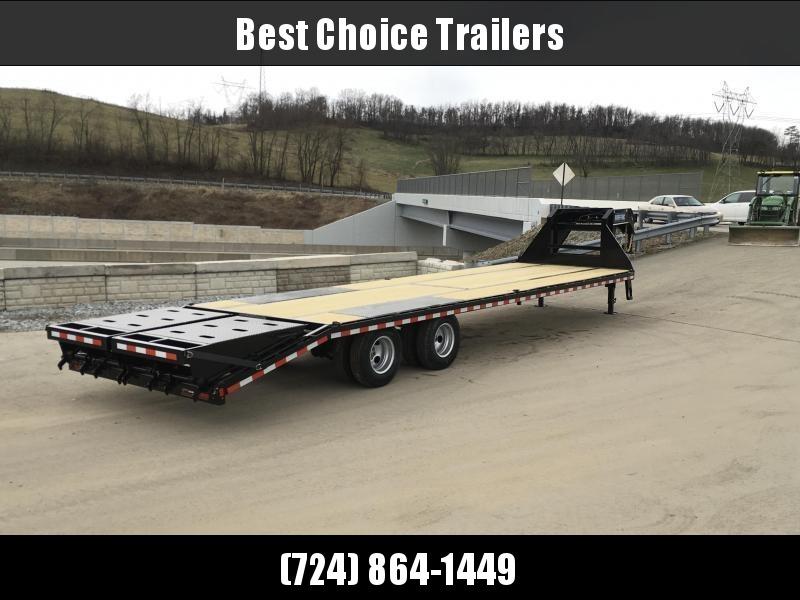 2018 Sure-Trac 102x27+5 22K Gooseneck Beavertail Deckover Trailer PIERCED FRAME * FULL WIDTH RAMPS * HUTCH SUSPENSION