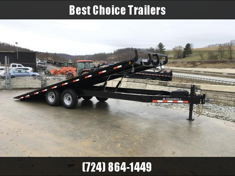 "2018 Iron Bull 102""x22' Deckover Power Tilt Trailer 14000# GVW"