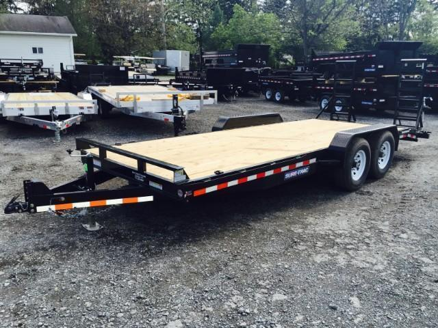 2018 Sure-Trac Implement 7'x18' Equipment Trailer 14000# GVW * CLEARANCE PRICED