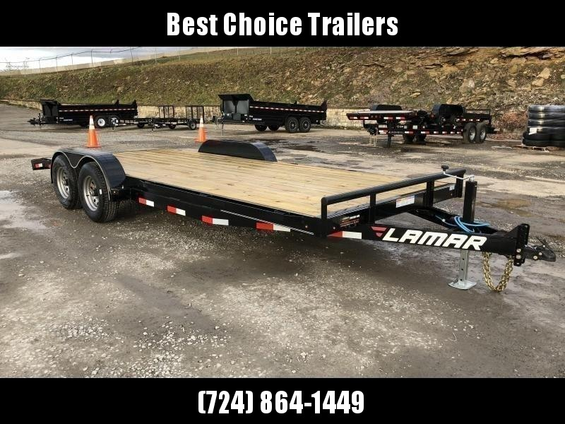 2019 Lamar 7X20' CC10 Car Trailer 9990# GVW RUBRAIL * REMOVABLE FENDERS  * CHARCOAL POWDERCOATING * 7K DROP LEG JACK