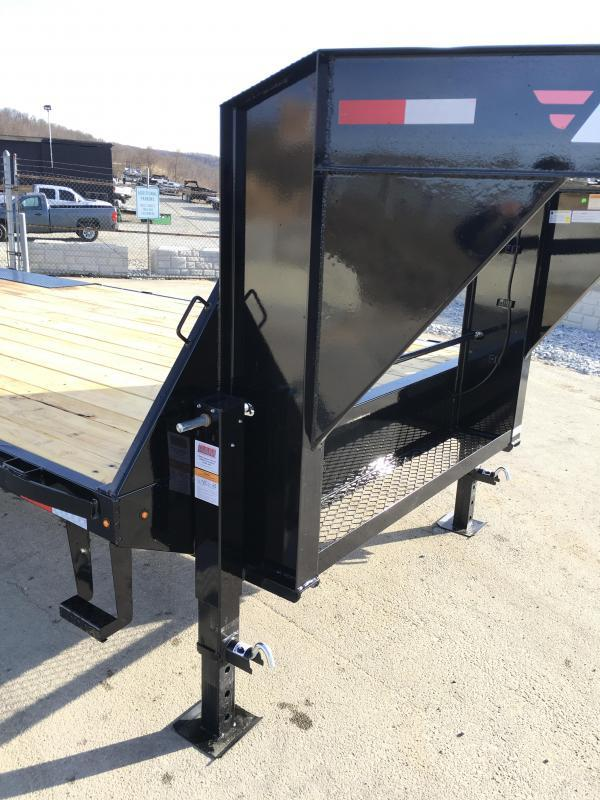 "2017 Lamar 102x20+4' Gooseneck Beavertail Deckover Trailer 14000# STAND UP RAMPS * 17.5"" TIRE UPGRADE"