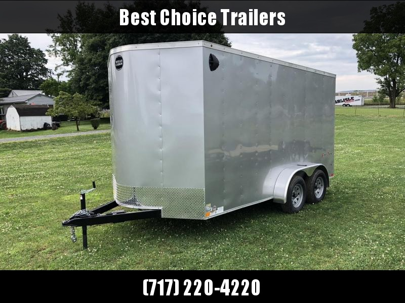 2019 Wells Cargo 7x14' Fastrac DELUXE Enclosed Cargo Trailer 7000# GVW * SILVER * RAMP DOOR * V-NOSE * .030 * 1 PC ALUM ROOF * 7' HEIGHT UPGRADE - UTV PACKAGE