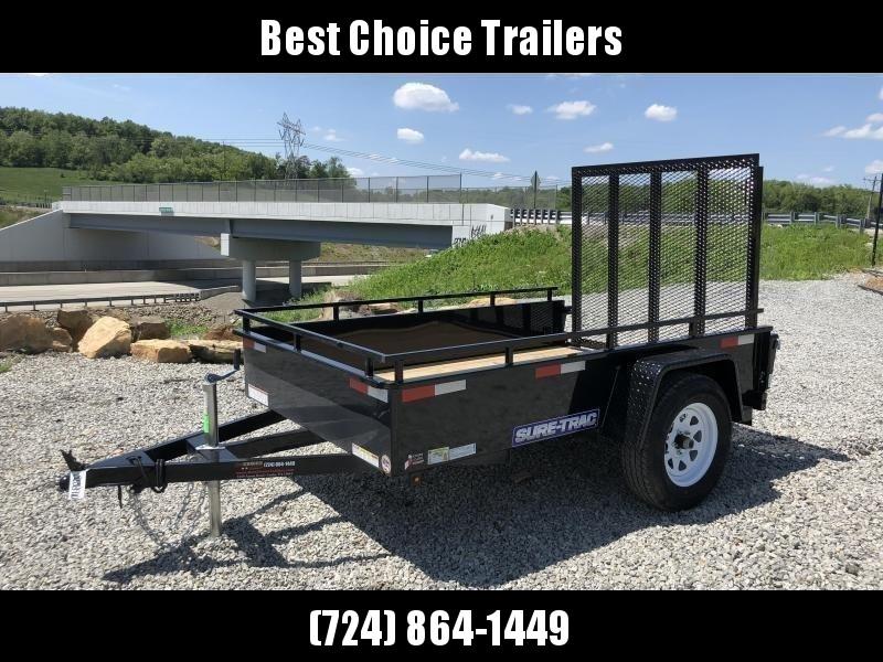 2019 Sure-Trac 5x8' Steel High Side Landscape Utility Trailer 2990# GVW
