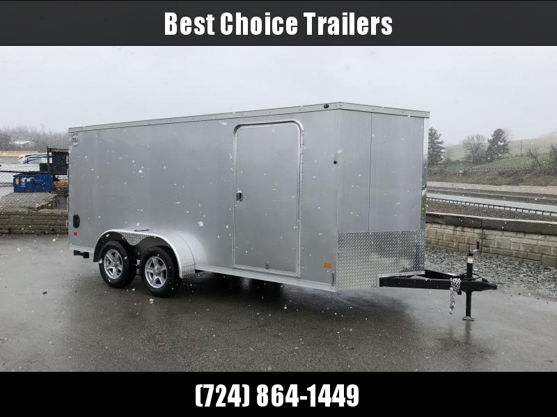 2018 Wells Cargo 7x16' VG500 Enclosed Cargo Trailer 7000# GVW * SILVER