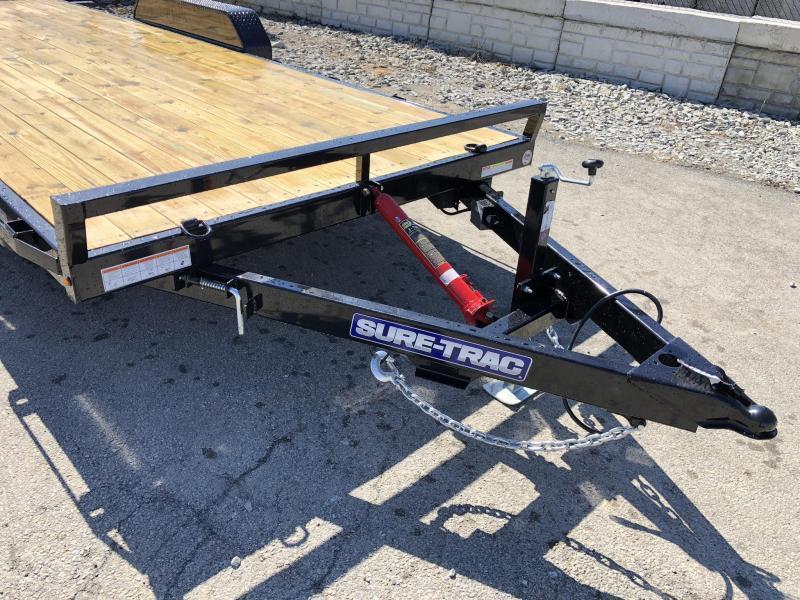 2019 Sure Trac 7x20' 9900# Manual Tilt Car Trailer * ST8220CHWT-B-100