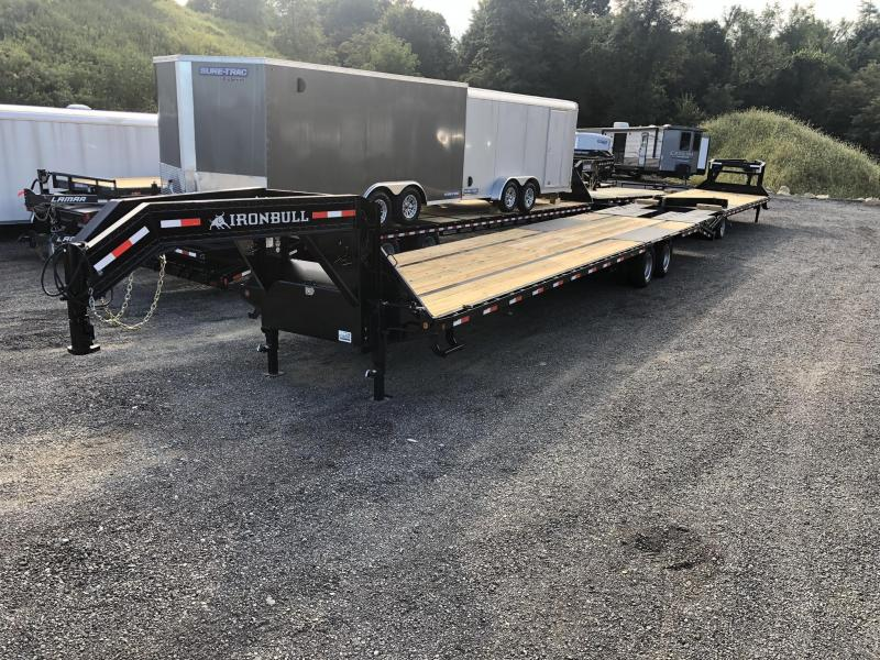 2019 Ironbull 102x35+5' Gooseneck Beavertail Flatbed Deckover 24000# GVW * HOT SHOT * AIR RIDE * 12K DEXTERS * EOH DISC BRAKES * FULL WIDTH RAMPAGE RAMPS * PIERCED FRAME * SPARE TIRE * UNDER FRAME BRIDGE