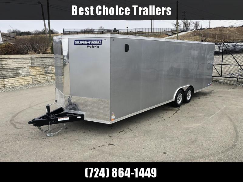 2019 Sure-Trac 8.5x24' Enclosed Car Trailer 9900# GVW * SILVER * SCREWLESS