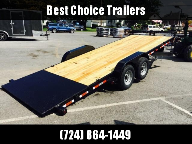 2018 QSA 7x20' 9850# GVW Power Tilt Equipment Trailer