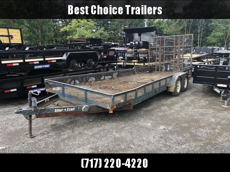 USED 2004 Shur-Trail 7x20' Angle Iron Utility Landscape Trailer 7000# GVW * AS IS