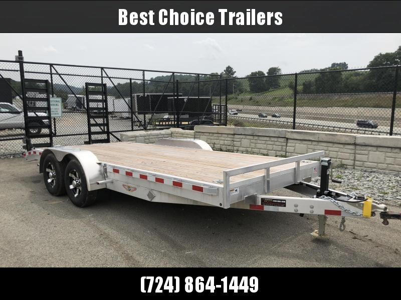 2018 H&H HAD 7x18 ALUMINUM Equipment Trailer 9990# GVW * TORSION * SWIVEL D-RINGS * EXTRA STAKE POCKETS * CLEARANCE