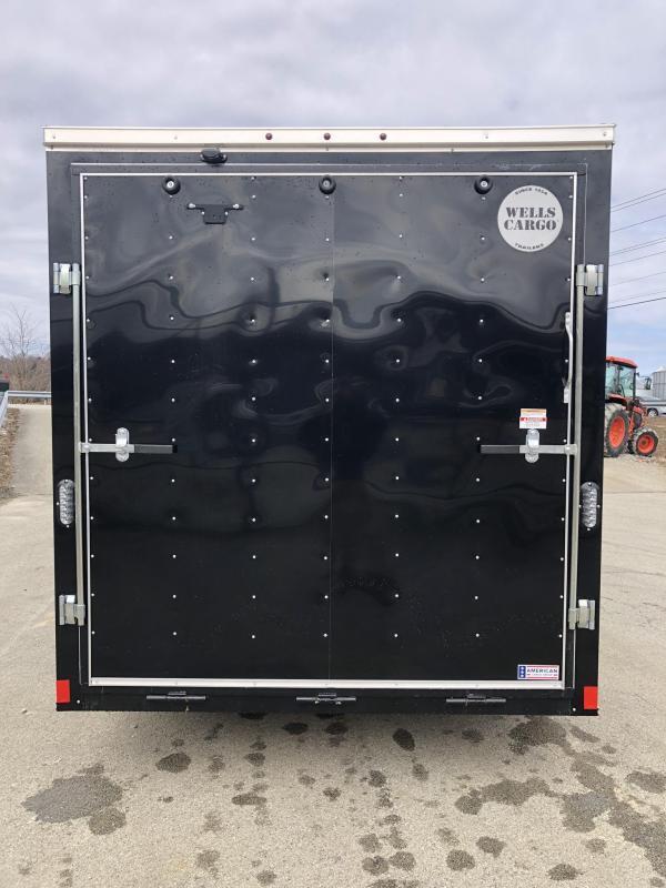 2019 Wells Cargo 7x16' Fastrac Enclosed Cargo Trailer 7000# GVW * WHITE * RAMP DOOR * V-NOSE