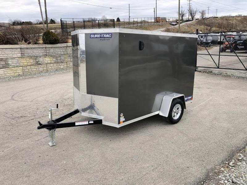 2019 Sure-Trac 6x10' STW Enclosed Cargo Trailer 2990# GVW * CHARCOAL * RAMP DOOR