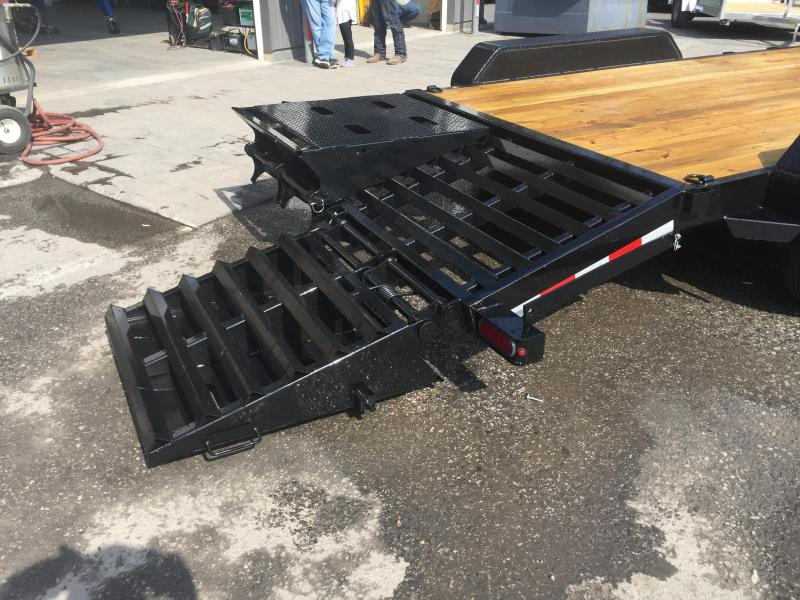 2018 Sure-Trac 7x17+3' Equipment Trailer 14000# GVW - UNIVERSAL RAMPS * CLEARANCE - FREE ALUMINUM WHEELS