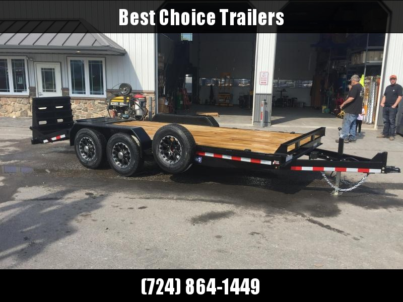 2018 Sure-Trac 7x17+3' Equipment Trailer 14000# GVW - UNIVERSAL RAMPS