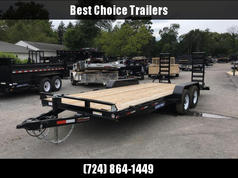 2018 Sure-Trac Implement 7'x18' Equipment Trailer 9900# GVW - ST8118IT-B-100 * CLEARANCE - FREE ALUMINUM WHEELS