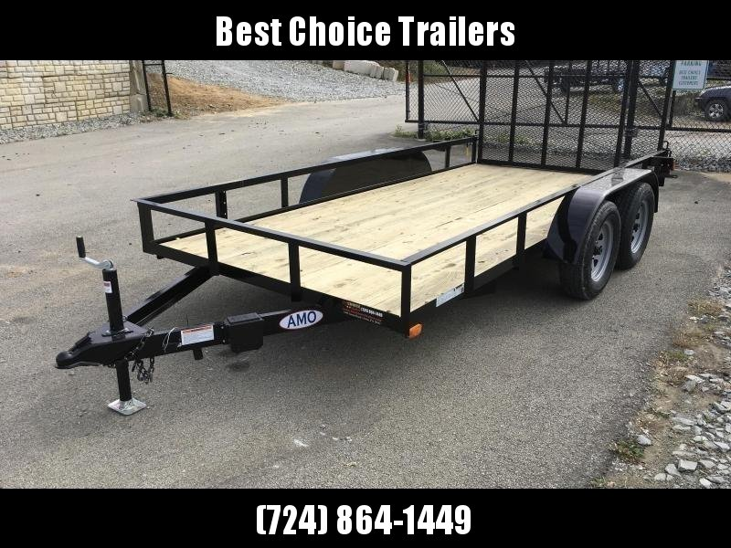 2019 AMO 76x18' TUBE TOP Utility Landscape Trailer 7000# GVW * TUBE TOP & UPRIGHTS UPGRADE
