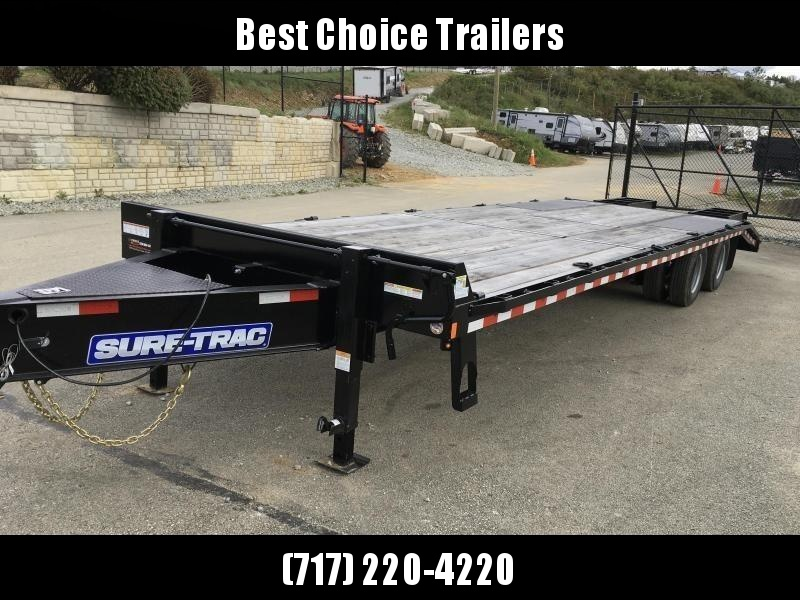 2020 Sure-Trac 102x25+5' HD LowPro Beavertail Deckover 25990# GVW * OAK BEAVERTAIL/OAK DECK/OAK RAMPS * PAVER SPECIAL * 12K AXLES * HUTCH SUSPENSION * DUAL JACKS * MUD FLAPS * EXTRA D-RINGS * INTEGRATED TOOLBOX * CLEARANCE