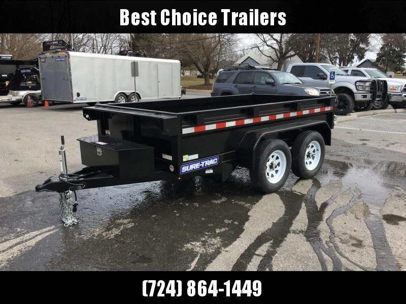 2018 Sure-Trac 5x10 Low Profile Homeowner Dump Trailer 7000# GVW * BARN DOORS