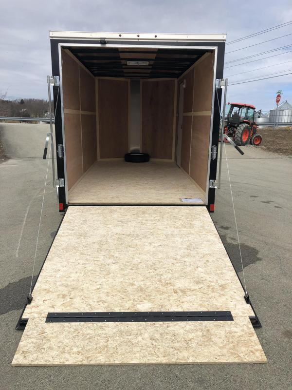 2019 Wells Cargo 7x14' Fastrac Enclosed Cargo Trailer 7000# GVW * BLACK * RAMP DOOR * V-NOSE * 7' HEIGHT * ROOF VENT
