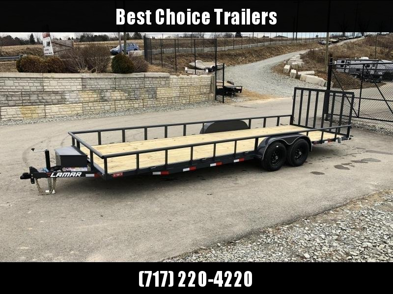 2019 Lamar 7x24' Pipe Top Channel Frame Utility Landscape Trailer 9990# GVW * UC832425 * TOOLBOX * SWIVEL JACKSTANDS * ADJUSTABLE COUPLER * DROP LEG JACK * PIPE TOP * UTV HAULER * COMMERCIAL LANDSCAPER in Ashburn, VA